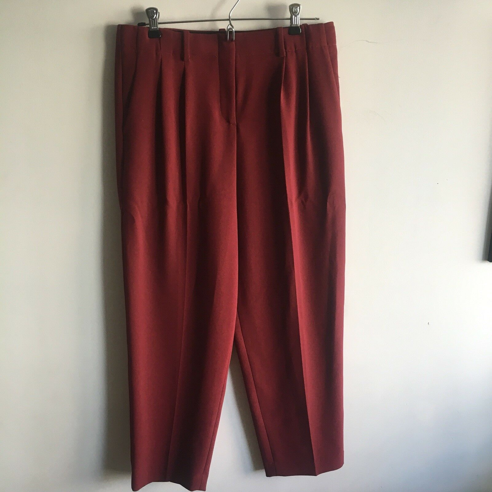 THEORY Women's Maroon Dress Pants Size 6 New Without Tags