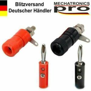Bananenbuchse-Bananenstecker-4mm-Rot-schwarz-Kupplung-Buchse-Stecker-Arduino