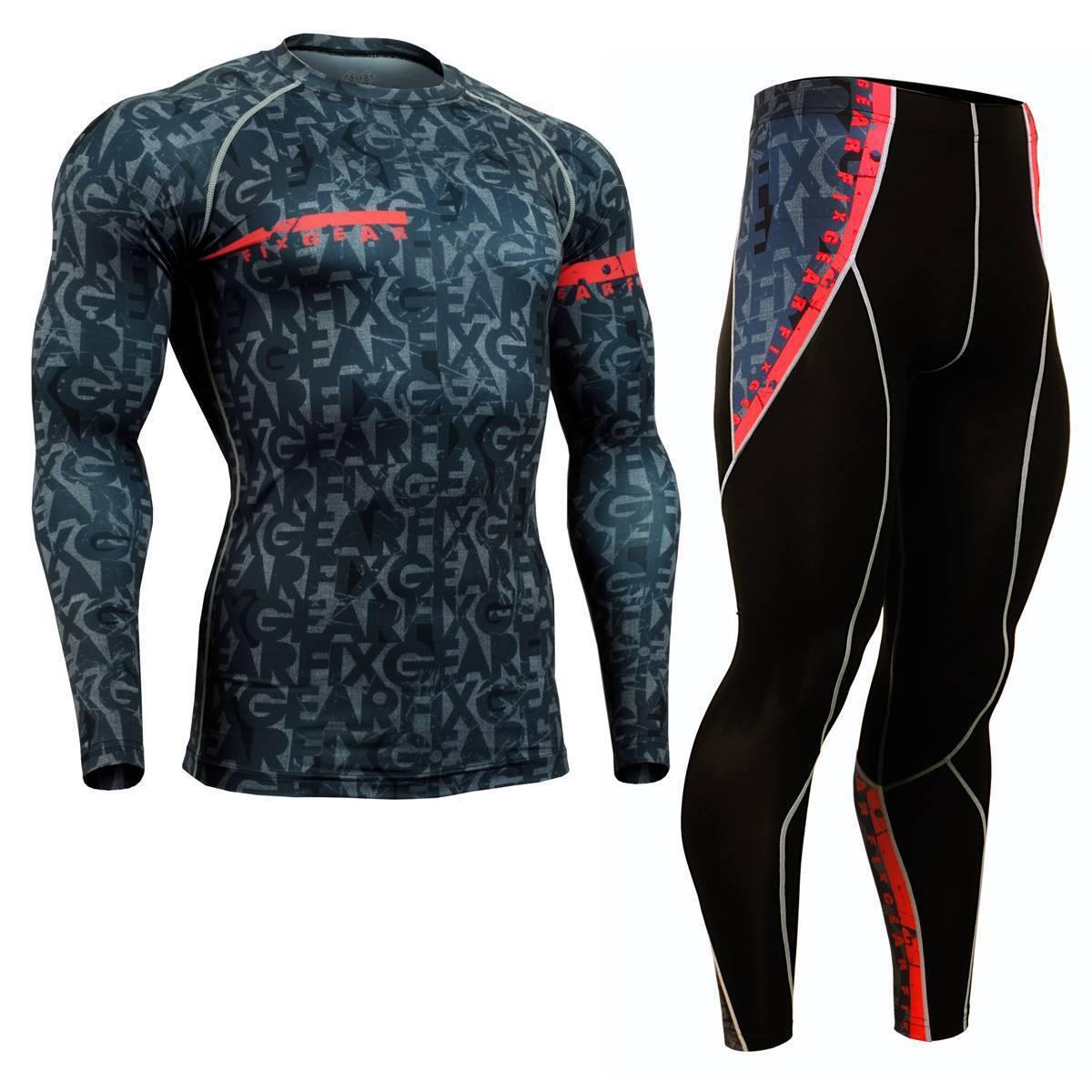 FIXGEAR CFL/P2L-g6 SET Compression Shirts & Pants Skin Tights MMA Training Gym