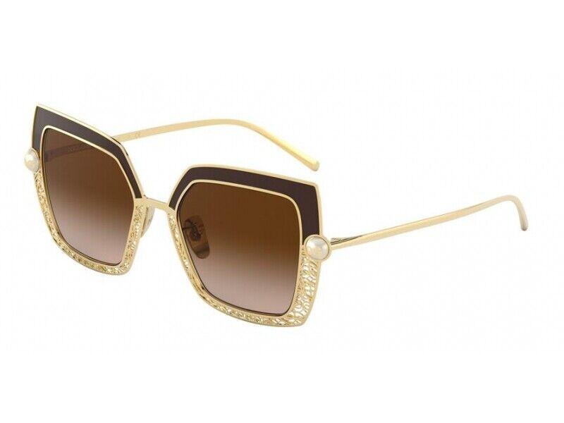 DOLCE & Gabbana Sunglasses dg2251h 132013 Gold/Brown Brown Woman