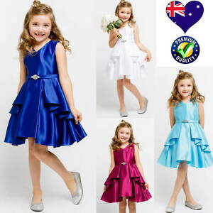 New-Satin-Flower-Girl-Dress-Jr-Bridesmaid-Girls-Party-Formal-Dress-Size-4-to-14