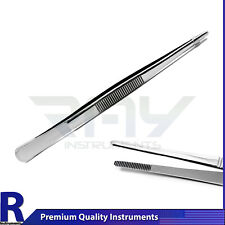 Dental Dressing Tweezers Tissue Thumb Forceps Surgical Serrated Tip Instruments