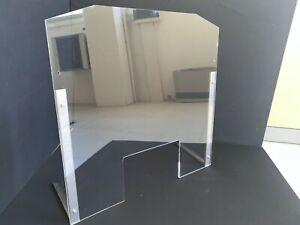 Parafiato-in-Plexiglass-Trasparente-75X75-supporti-in-acciaio-inox-con-ventose