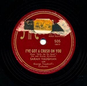 SARAH-VAUGHAN-1947-Musicraft-505-I-039-ve-Got-a-Crush-On-You-Penthouse-Serenade