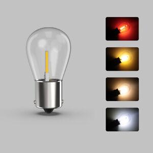 2x-p21-5w-bay15d-1157-rojo-Amber-auto-led-luz-de-freno-faro-trasero-pera-calido-White