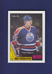 Mike-Krushelnyski-1987-88-O-PEE-CHEE-OPC-Hockey-202-MINT-Edmonton-Oilers