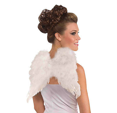 WHITE FEATHER ANGEL WINGS CLUB SIZE PARTIES COSTUME ACCESSORY BE AN ANGEL