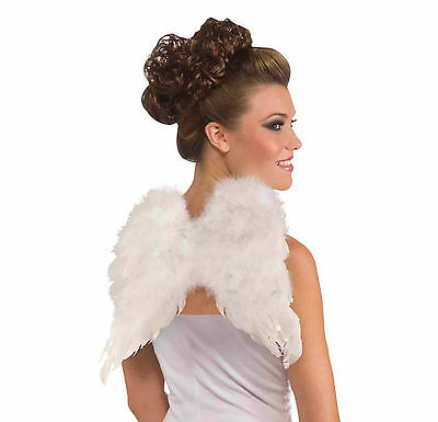 WHITE CLUB SIZE FEATHER ANGEL COSTUME ACCESSORY BE AN ANGEL FUN@HALLOWEEN