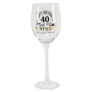 image is loading personalised 40 40th happy birthday wine glass amp - Happy Birthday Wine Glass