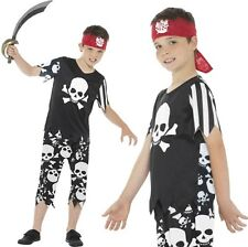 Childrens Boys Rotten Pirate Fancy Dress Costume Kids Pirate Outfit by Smiffys  sc 1 st  eBay & Skull Pirate Boys Fancy Dress Caribbean Buccaneer Book Week Childs ...