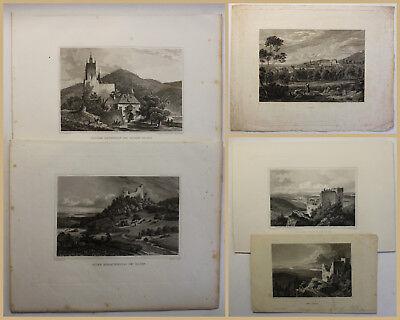 Other Art Charitable 5 Stahlstiche Baden-baden Um 1850 Geografie Geographie Landeskunde Geschichte Sf Finely Processed Art