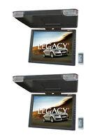 2) Legacy Lmr15.1 15 Lcd Tft Car/suv/truck Flip Down Roof Mount Monitors Tv Ir