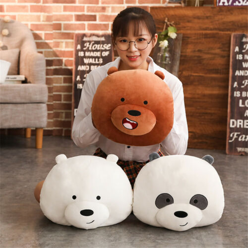 We Bare Bears Panda Ice Bear Plush Toys Cute Stuffed Doll Soft Pillow Kids Gifts