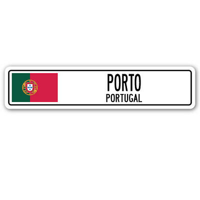 LISBON PORTUGAL Street Sign Portuguese flag city country road wall gift