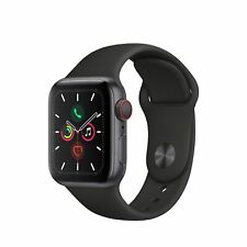 Apple Watch Gen 5 Series 5 Cell 40mm Space Gray Aluminum - Black Sport Band