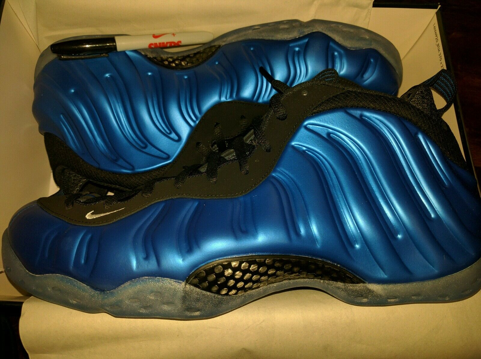 Nike Air Foamposite One XX Royal Blue Sharpie 2017 Penny AUTO 157/200 Signed 15