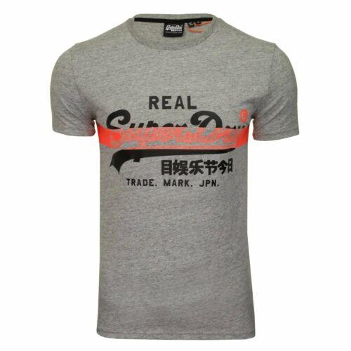 Superdry VL Cross Hatch Logo T-shirt gris 9SS