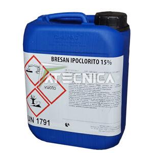 Bresan Hipoclorito De Por Sodio 15% Tanque De 12Kg Bactericida Para Piscinas
