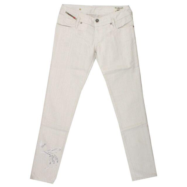 17036 DIESEL Damen Jeans Hose MATIC creme golddurchwirkt 31/34