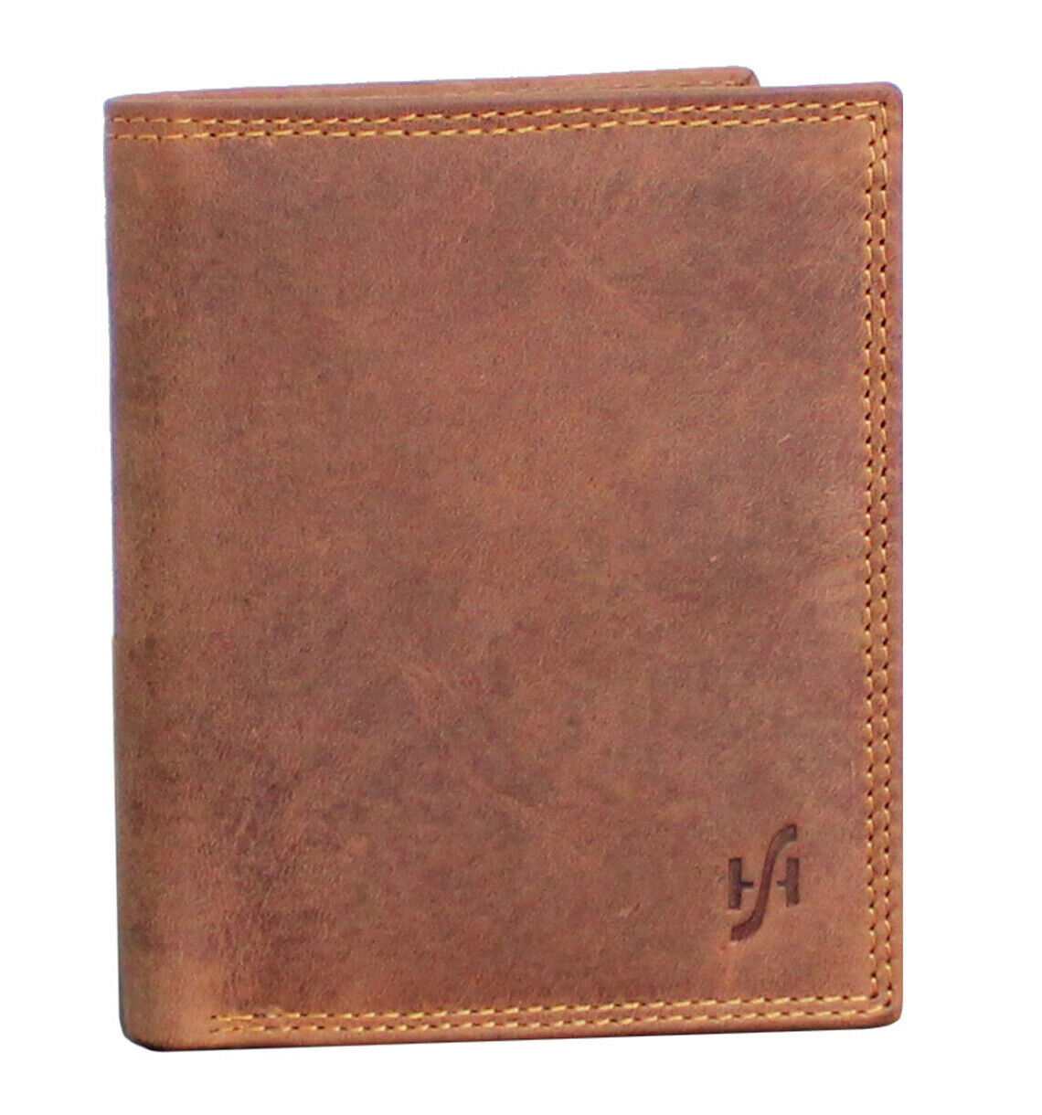 Mens RFID Blocking Hunter Leather Wallet Brown