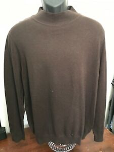 Men's Croft & Barrow Turtle Neck Brown Sweater with Tags