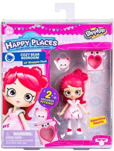 Shopkins luoghi felici S3 camera da letto accogliente Orso Lil shoppie Pack Valentina CUORI