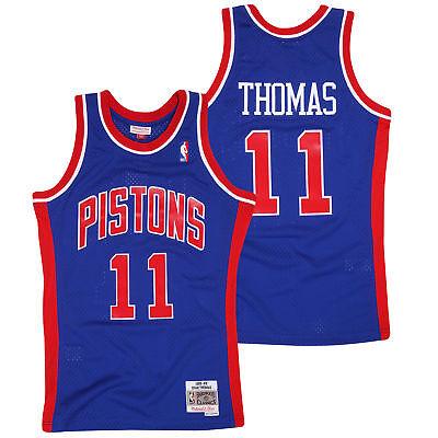 Inteligente Detroit Pistons Isiah Thomas Hardwood Classics Swingman Jersey Stradale Camicia Da Uomo-mostra Il Titolo Originale Aspetto Estetico