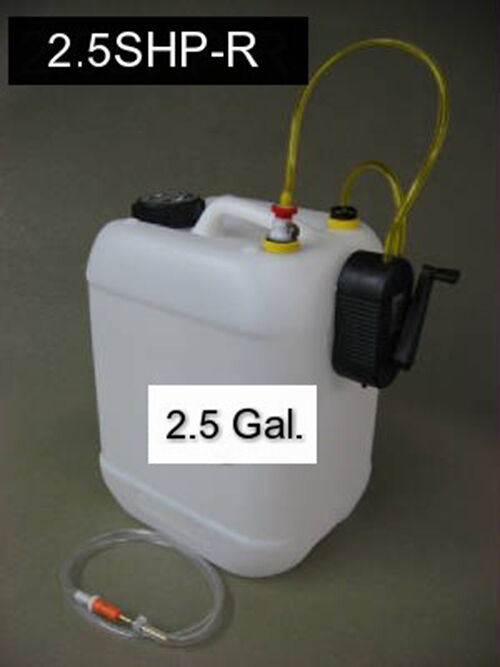 NEW Smoke Container 2.5 gallons Hand Pump System (Jersey Modeler)
