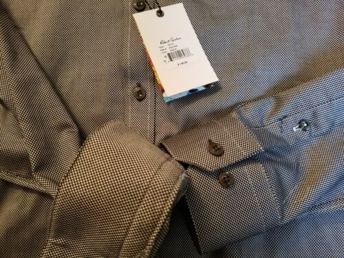 vestir Tamaño Camisa 15 Robert 148 38 Graham Felix MSRP Nwt Nuevo hombre de para negra zqPWF5Zq