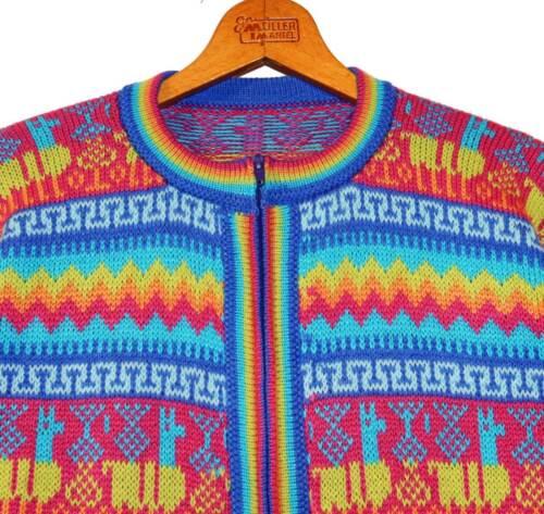 P en d'alpaga Cardigan laine Gr Alpaga Rose Cardigan L M Turquoise Multicolore veste au OzPaSnPqw
