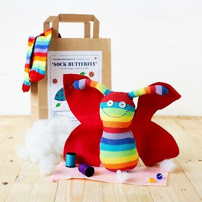 Creature, sewing, kids, monkey adult Christmas gift! SOCK FLAMINGO CRAFT KIT.