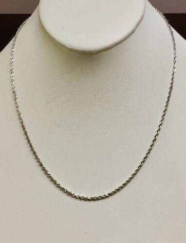 """14kt 22/"""" or Blanc 1.0 mm Diamant Coupe Réglable Corde Chaîne 3 G"""