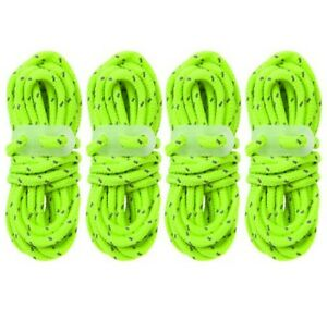 4x-Hi-Vis-Green-Guyline-Tent-Rope-Runners-Camping-Guy-Line-Cord-Paracord-Safety