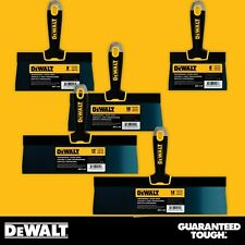 Dewalt Drywall Taping Knife Set Premium Blue Steel 6 8 10 12 14 With Soft Grip