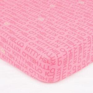 Fitted Sheet 2 People 140 X 190 Cm Hello Kitty Sweet Pink New Ebay