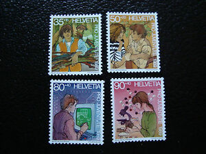 Switzerland-Stamp-Yvert-and-Tellier-N-1333-A-1336-Nsg-A12