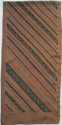 -authentique Écharpe Bayron Soie Tbeg Vintage Scarf 160 X 36 Cm