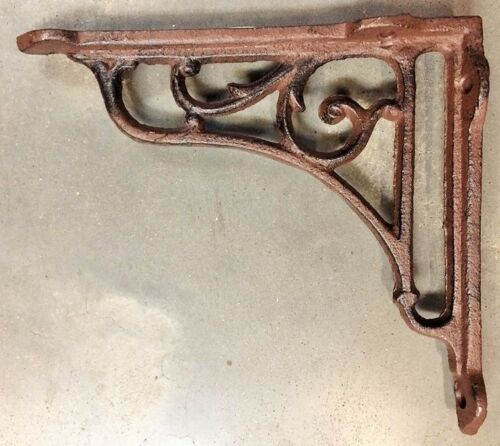Set of 4 Gothic Vine Corbel cast iron shelf brace bracket antique brown finish