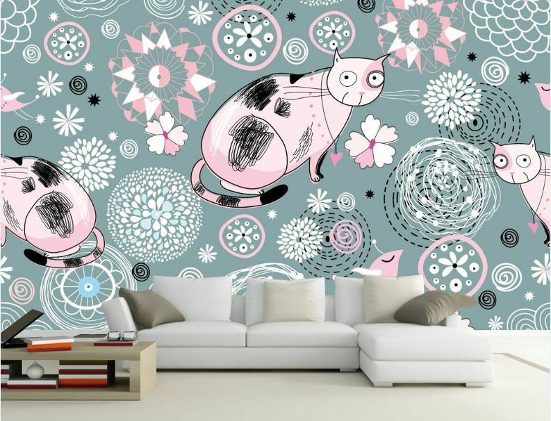3D Cute cat element 5 WallPaper Murals Wall Print Decal Wall Deco AJ WALLPAPER