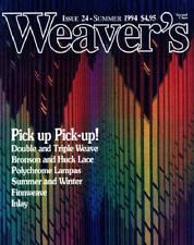 Weaver's magazine 24: ~PICK-UP~ double & triple weave..