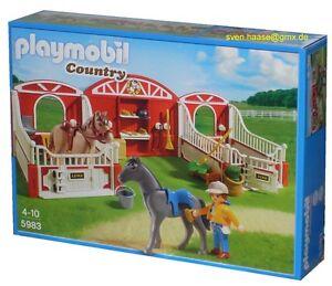 Playmobil 5983 country pferdestall pferde pony stall neu ebay - Pferde playmobil ...