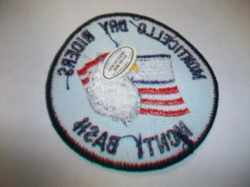 MONTICELLO DRY RIDERS MONTI BASH Fabric Embroidered Patch