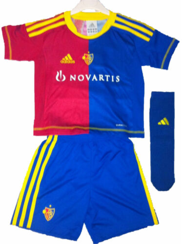 Adidas FC Basel Baby Minikit Trikot Set rot blau  3-tlg 92 98 104 110 116