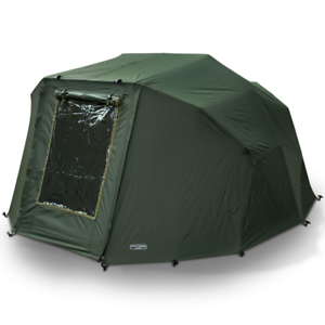 2-Man-039-Fortress-039-Overwrap-039-NGT-Green-Carp-Fishing-Bivvy-Tent-Wrap-With-Window