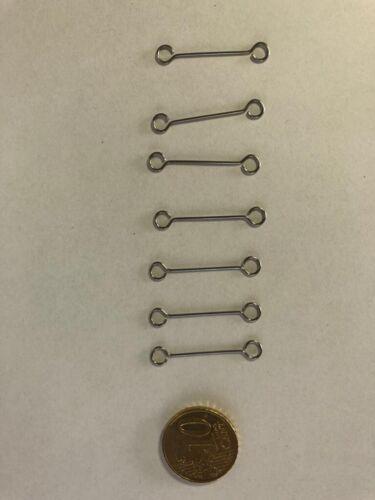 C182 für Wiking Ersatzteile 1:87 7 Stk Metallklammer Rungenzug verchromt H0