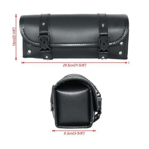 Motorcycle Scooter Tool Pouch Luggage Handle Bar Bag Round Barrel Storage New