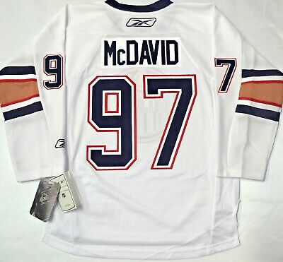 outlet store 0b26a b5028 NWT CONNOR McDAVID EDMONTON OILERS YOUTH L/XL NHL LICENSED REEBOK HOCKEY  JERSEY | eBay