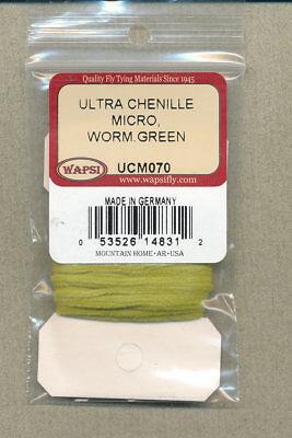 Ultra chenille medium worm green     UCU070