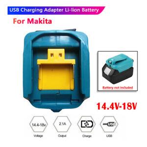USB Power Charger Adapter for Makita ADP05 14V-18V Li-ion Battery BL1830B BL1430