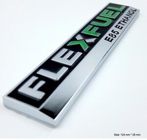 FLEX-FUEL-E85-ETHANOL-Metal-Badge-Decal-WRX-EVO-GTR-Supra-FPV-HSV